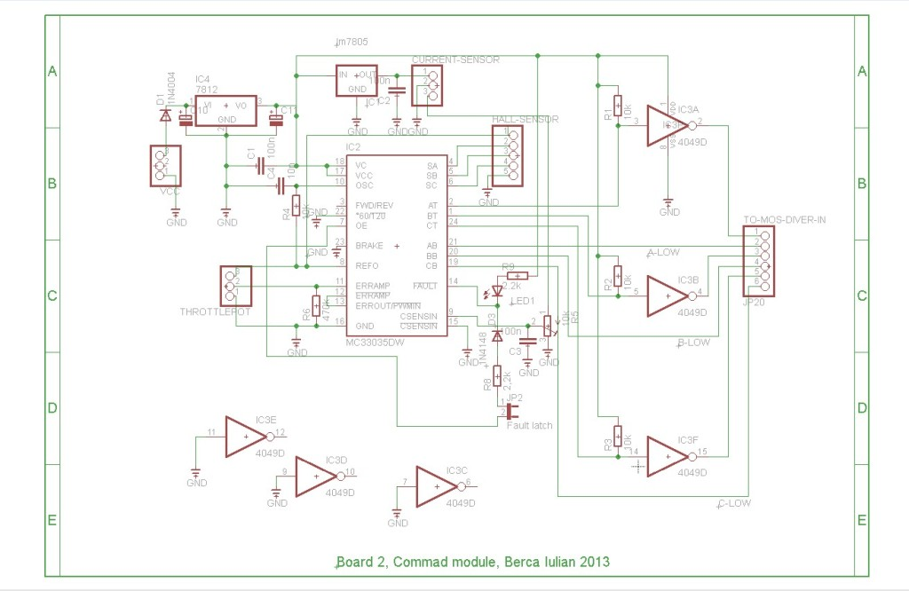 Electric Car Circuit Diagram | Updated Brushless Controller Schematic 2015 Brushless Motors