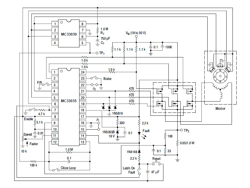 mc33035 basic schematic  u00ab brushless motors  3phase inverters  schematics