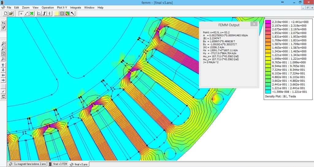 FEMM motor simulation