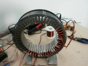 Brushless motor winding
