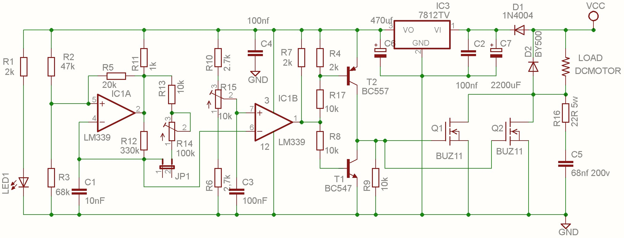 Dc Motor Speed Controller Pwm 0 100 Overcurrent Protection Second E Bike Circuit Diagram You